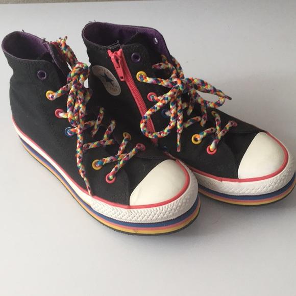 5e6b3ce1e678 Converse Other - Juniors platform Converse sneakers Size 3
